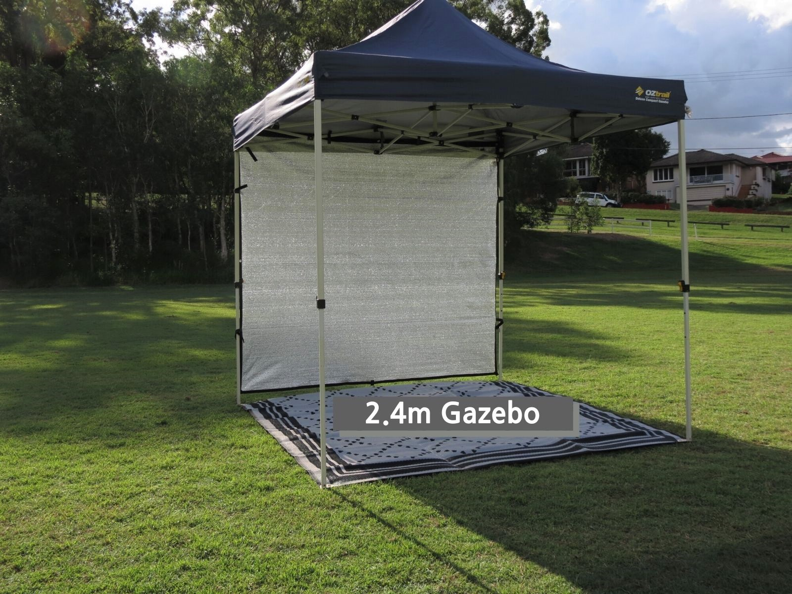 2.4m x 2m Gazebo Cool shade wall that reduces heat and is lightweight