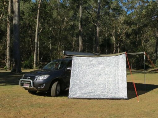 Shade screen for 270 awning