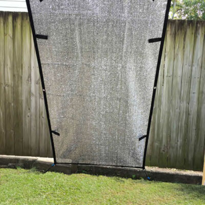Aluminium Caravan fridge shade screen 1m wide 2 m drop. reduces heat