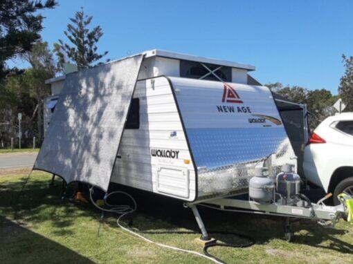 Off side Caravan shade screen