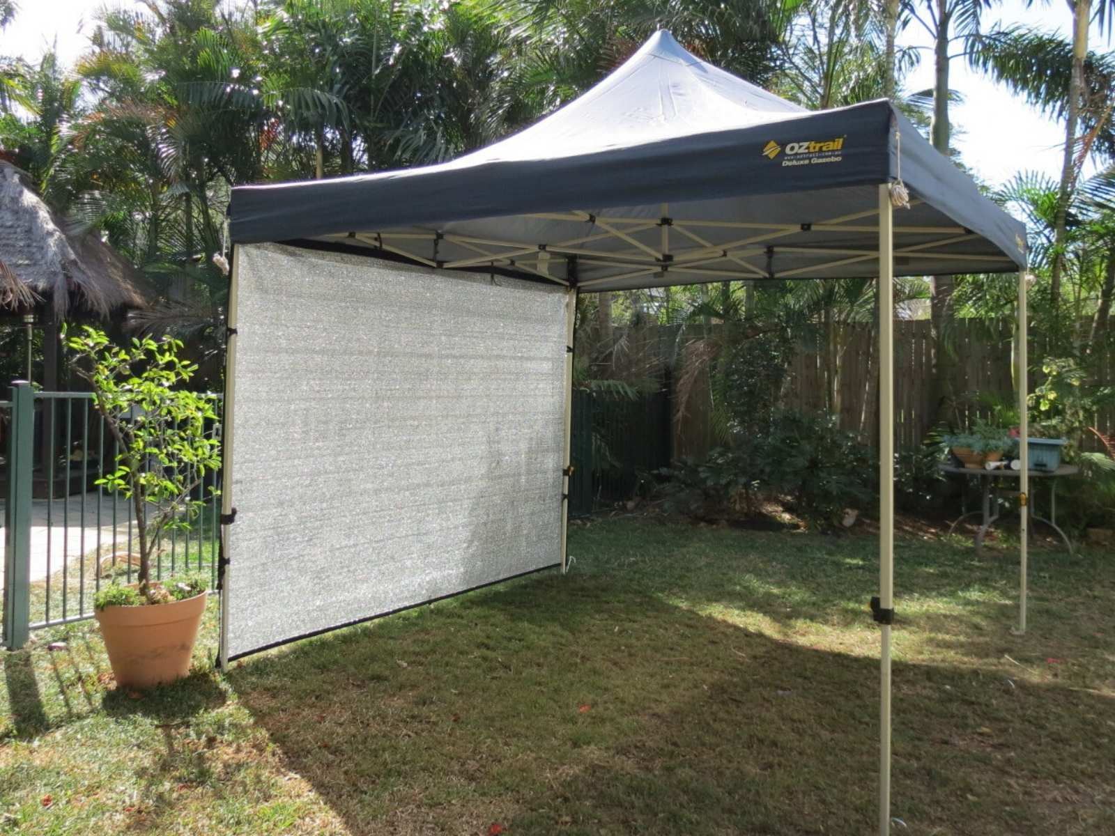 Gazebo wall for shade