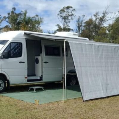Cool shade wall on Motor home 3.75m long x 2 m drop