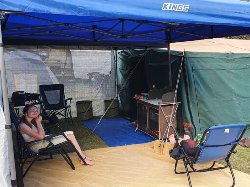 Cool shade screen to keep the heat out of your gazebo
